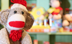 image of a sock monkey