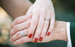 image of hands with wedding bands at wedding
