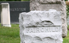 Tombstone in cemetery