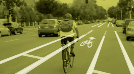 Buffered bike lanes image