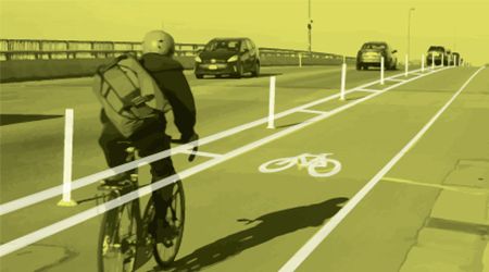 Protected bike lanes image