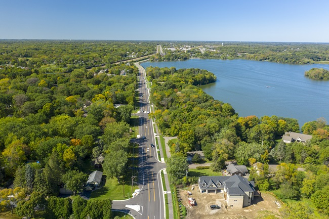Bird's eye view of Wayzata Boulevard