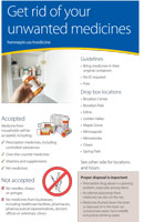 medicine disposal half page flyer