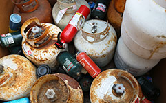 Discarded fuel containers