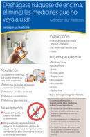 Spanish: Medicine Disposal Program half-page flyer