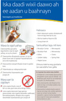 Somali: Medicine Disposal Program half sheet flyer