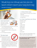Hmong: Medicine Disposal Program full-page flyer