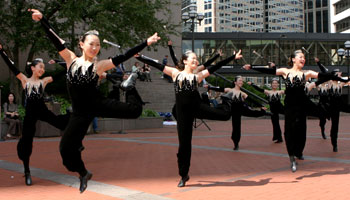 Dancers performing at Summer on the Plaza